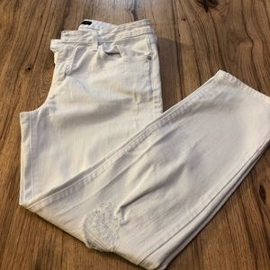 """Just Black""""White""""distressed skinny jeans. Size 29."""